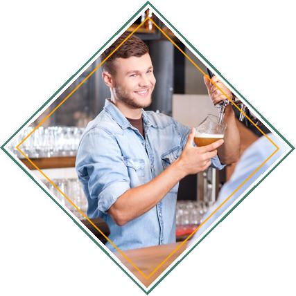 Bartender Working in Bar