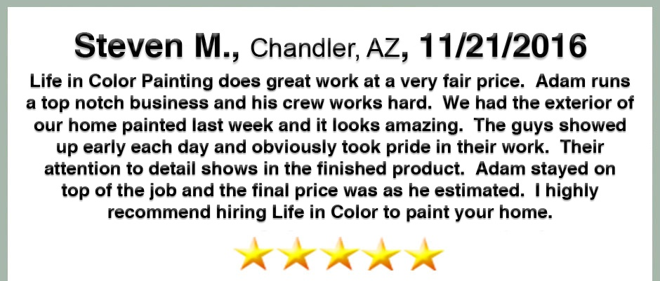 Review From Steven M.