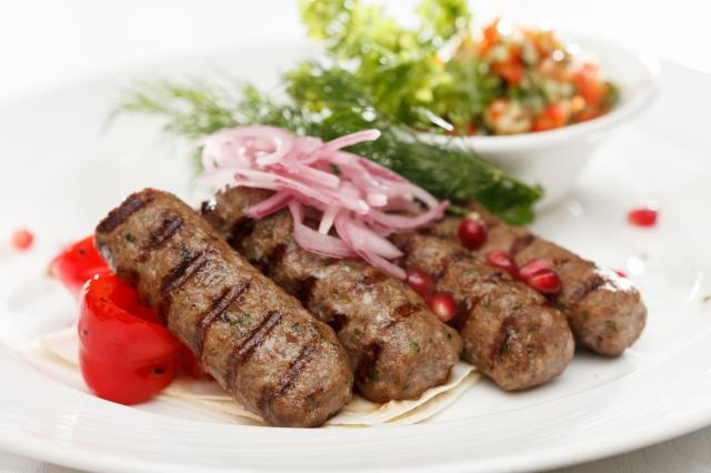Kafta Skewers On Plate