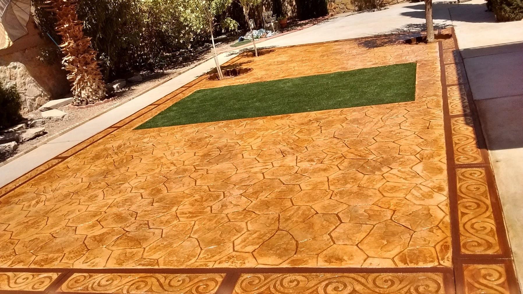 Brown Concrete Flooring