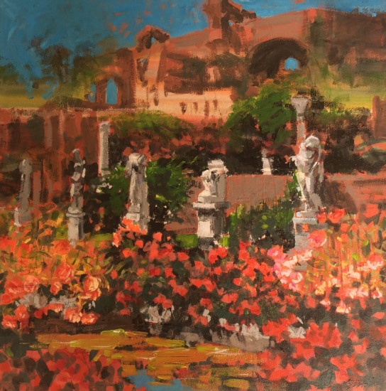 Garden of the Vestal Virgins 12x12 acrylic on canvas