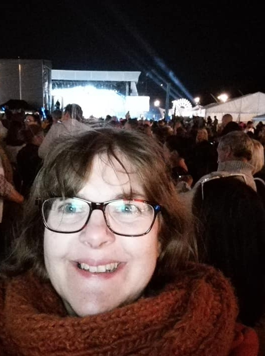 Susan at the Blackpool Illuminations Switch-on ceremony 2018