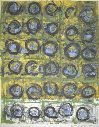 Brigitte McReynolds, Black Circles on Yellow Ground