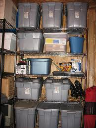 shelves for items in storage