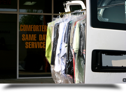 Dry cleaned clothes delivery service||||