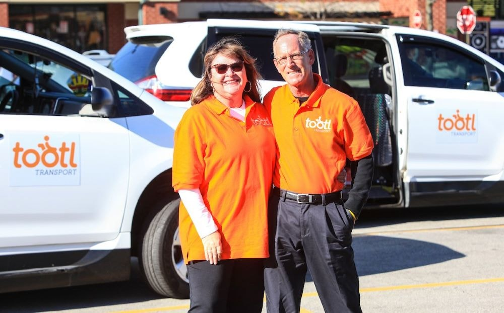 Michelle and Tom Dacy founders of tootl transportation services for wheelchair dependable seniors and young adults on wheelchair accessible vehicles.