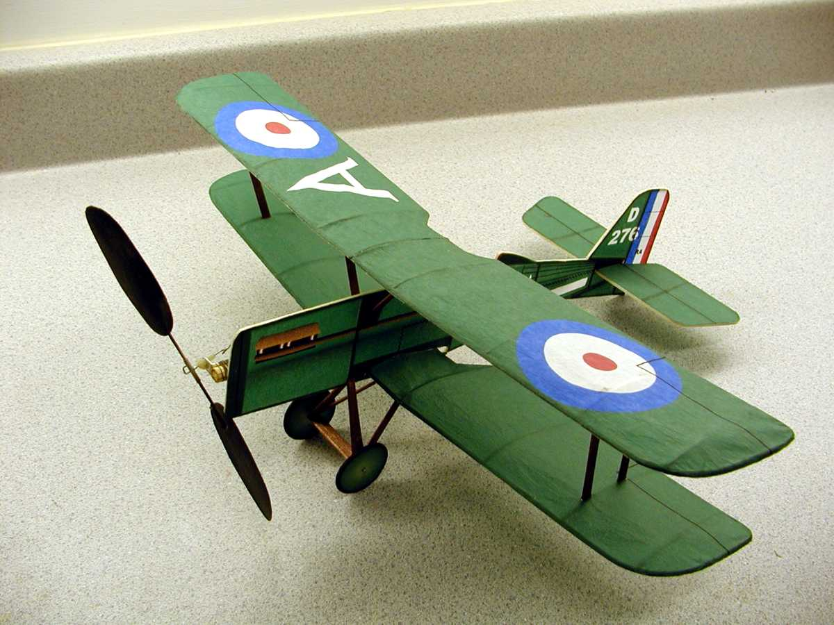 Here is the completed model sporting the ink jet printed tissue. This model is a No-Cal (reference to no calories due to the profile fuselage) British WWI SE-5a built to the Flying Aces Club (FAC) rules. The plan for this model can be found in the downloadable plans section of the web site. As you can see, even a simple model like this No-Cal SE-5a can be nicely dressed up by using ink jet printed tissue paper.