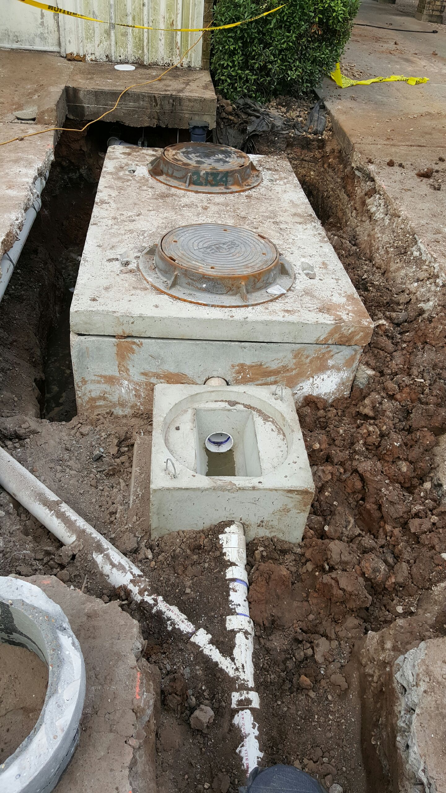 New Grease Trap and Sample Well