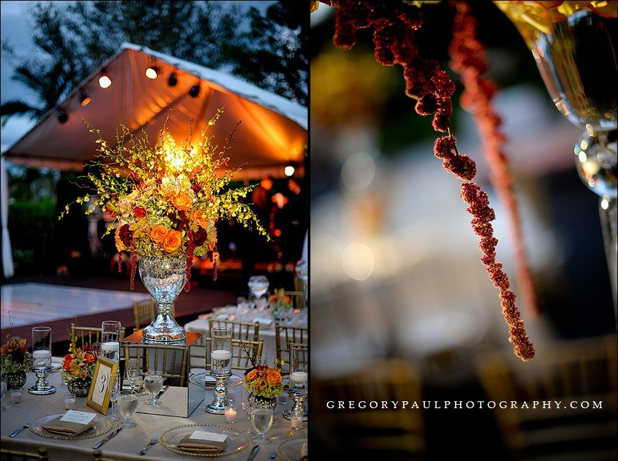 Outdoor Wedding Floral Centerpiece
