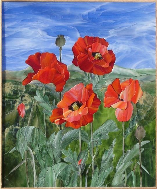 """Poppies"" by Nataliya Guchenia Size - 24""H X 20""W $3,500.00"