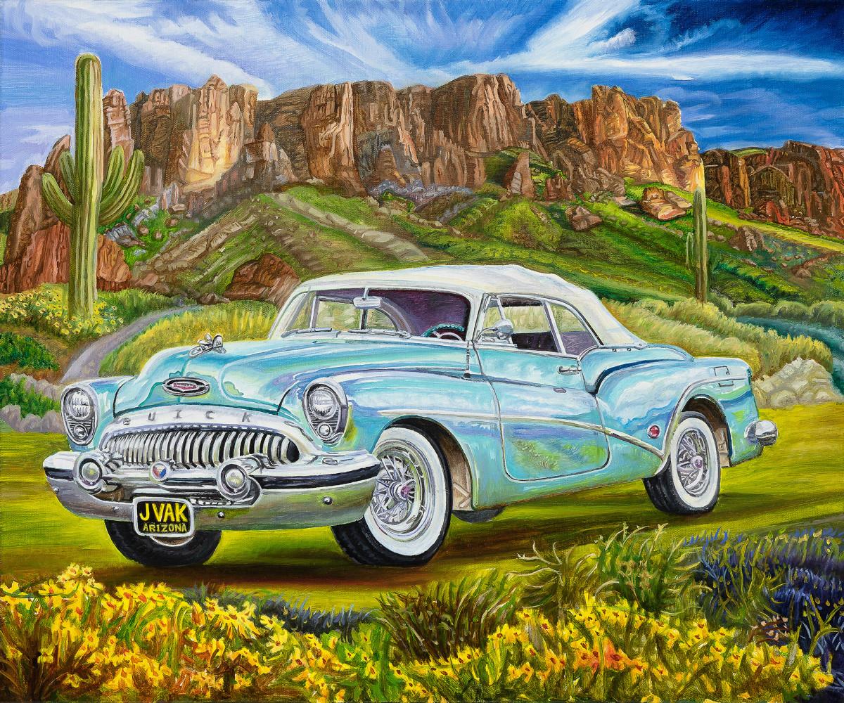 1953 Buick Skylark 20 X 24 Original Oil        $2500         2018