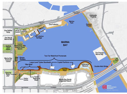 Click on the map to see enlarged  map of Singapore's Marina Bay