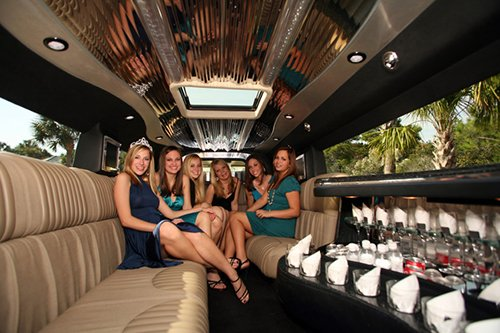 Offering limousine services