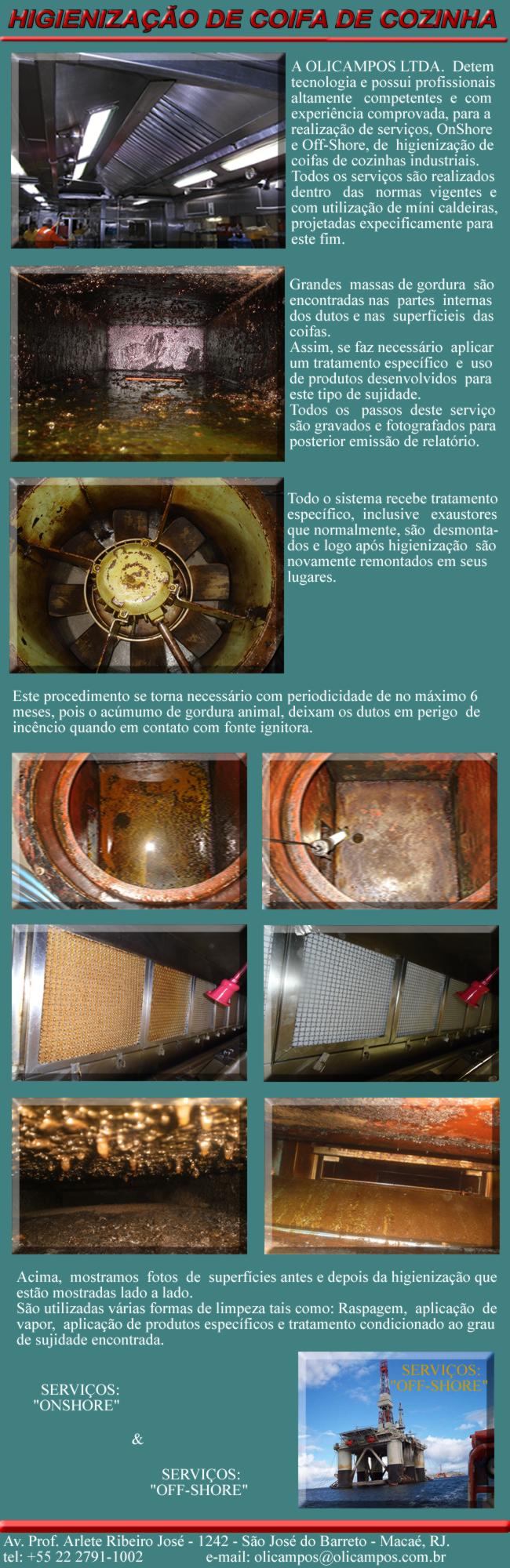 Olicampos Com E Serv De Equipamentos Industriais Higieniza O