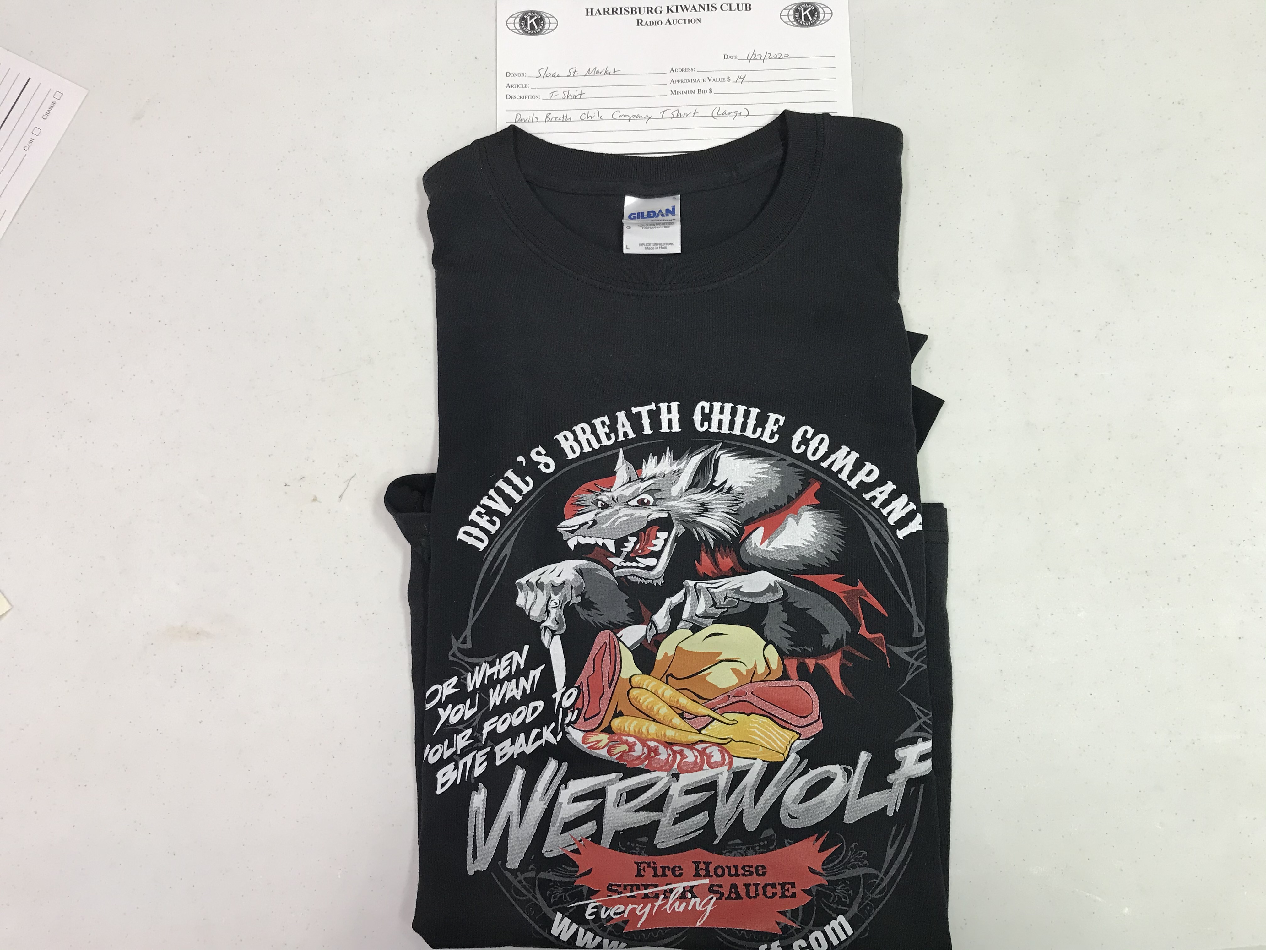 Item 117 - Sloan Street Market Large Devils Breath Chile Company T-Shirt