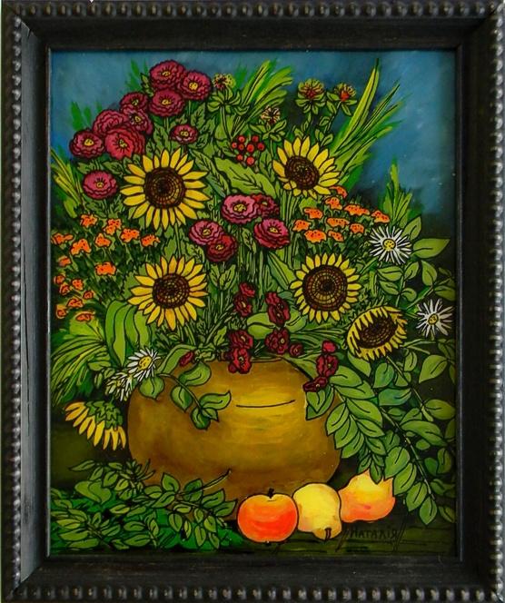 """""""Autumn Bouquet"""" by Nataliya Guchenia  Size - 10""""H X 8""""W $175.00"""