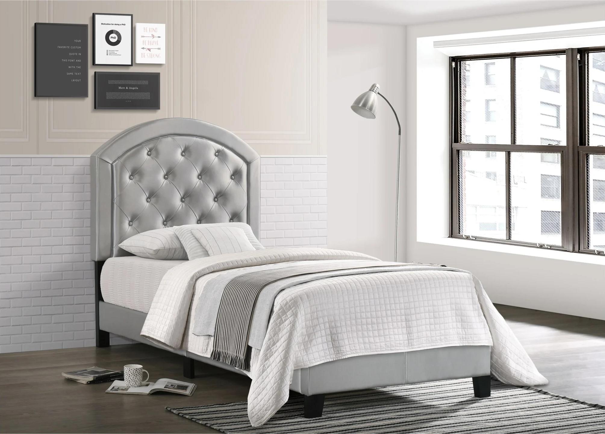 6259 Gaby Silver Platform Bed Twin