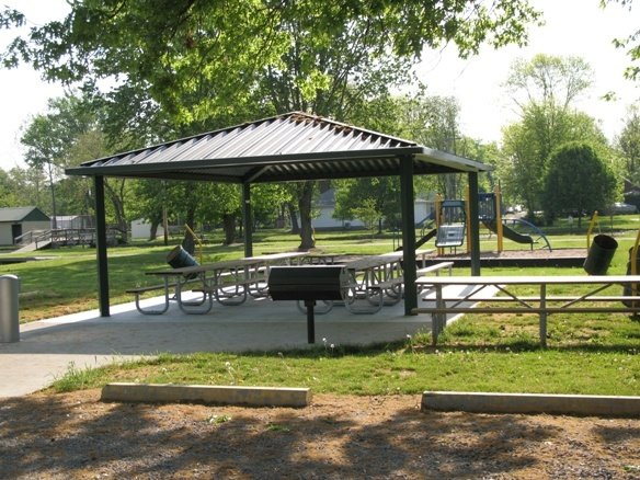 BAKER SHELTER Located on Herbert St., *New* Playground, Parking, Electricity, Water fountain, Seats 40, Walking distance from Park Lagoon, Restrooms by Amax Shelter, Grill for cooking out