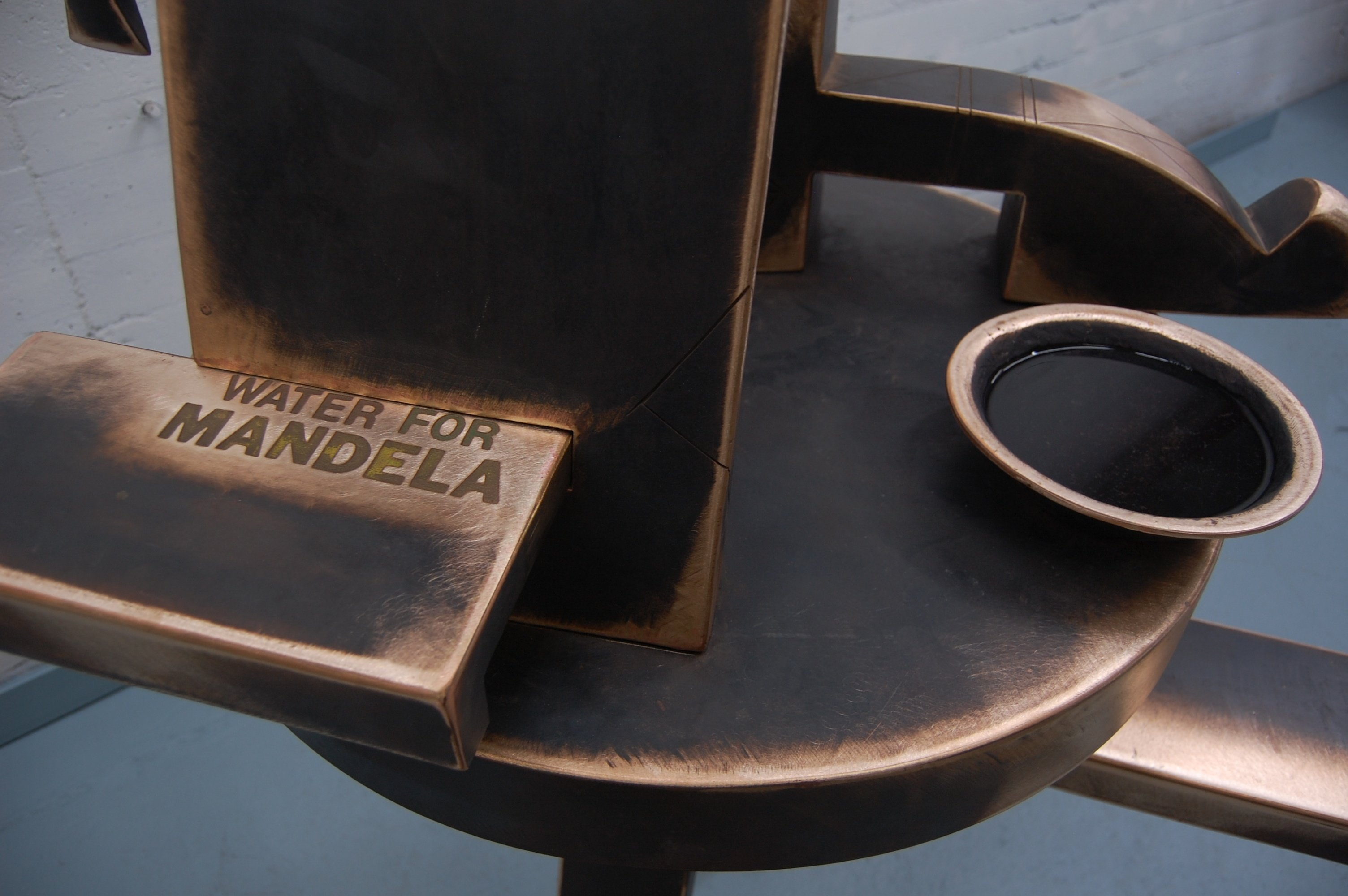 Water for Mandela (Detail)- 1987, Fabricated Bronze with Patina