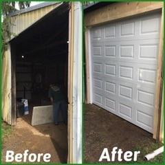 Overhead Garage Door Before & After