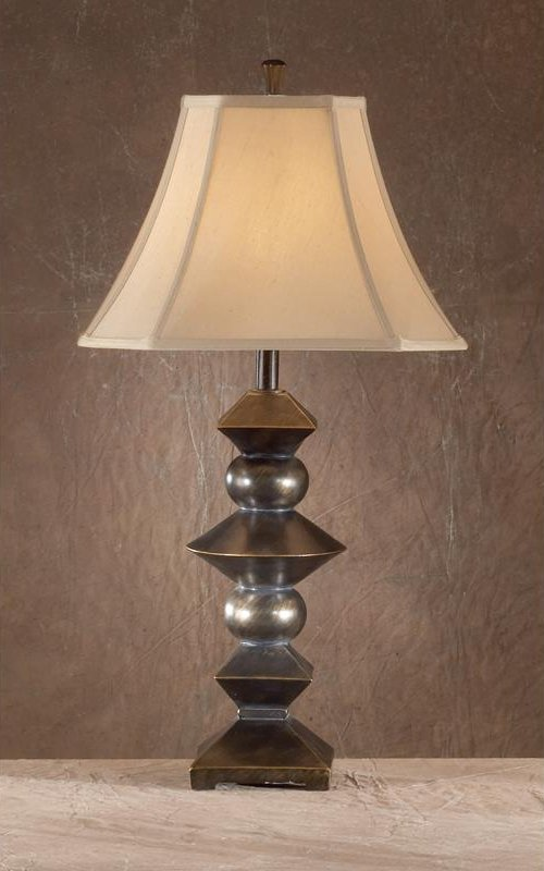 "BERN 6870 Geometric Bronze Lamp $99.00 33"" High"