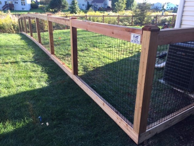 Custom Residential Wood To Steel Wire Mesh