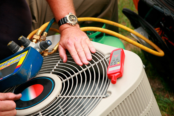 Man repairing air condition