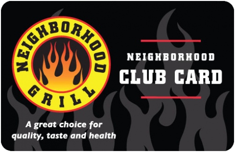 Neighborhood Grill Club Card