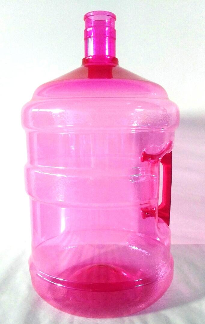 Garrafon PET 19lts. con asa rosa