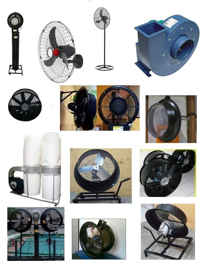Ventilador industrial, Climatizador, coletor de pó e muito mais.