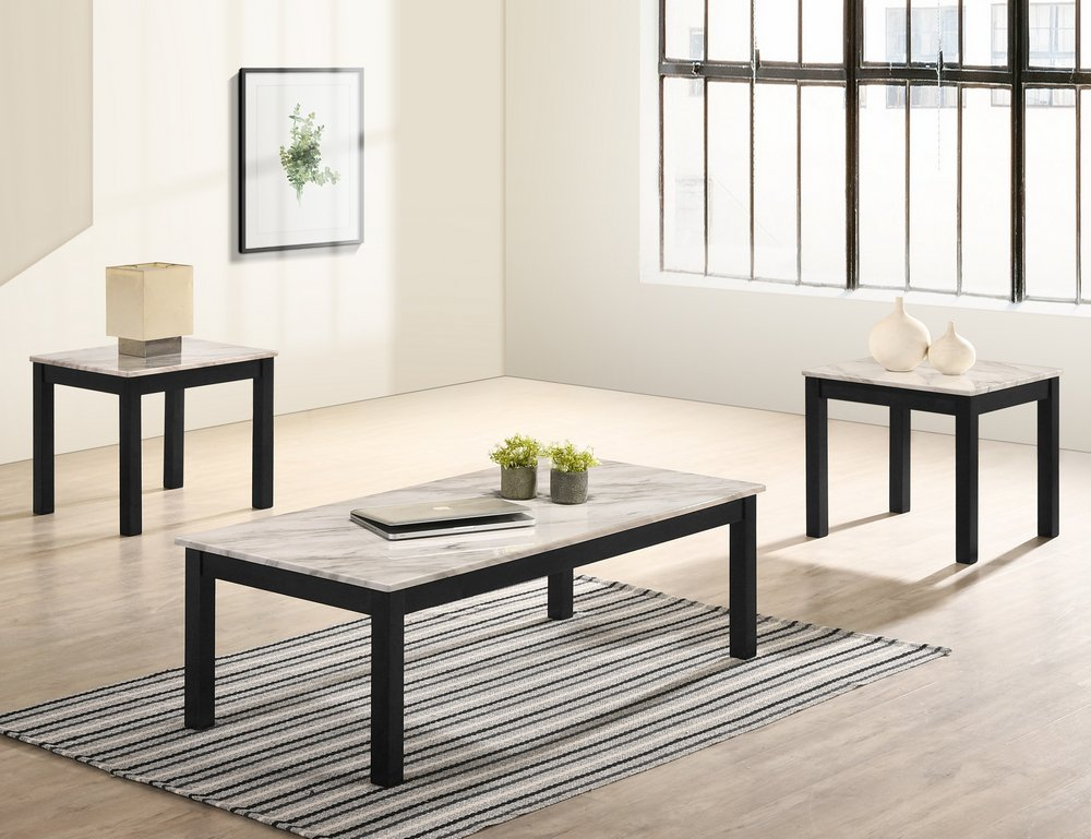 4167SET-WH Thurner Coffee and End Tables