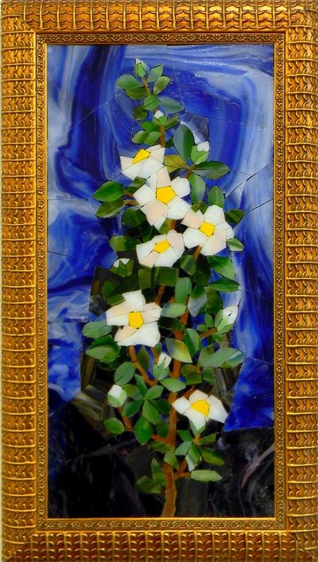 """""""White Flowes"""" by Nataliya Guchenia Size - 15""""H X 8""""W $600.00"""