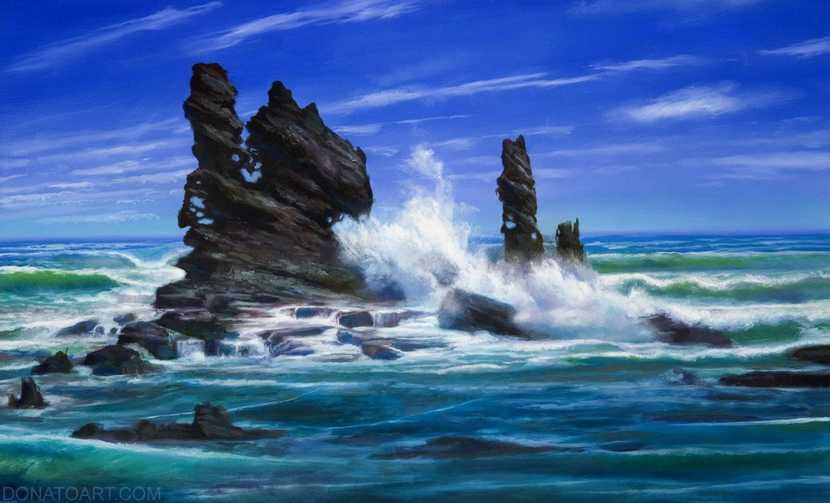 "Celestine Reef Planechase Anthology 11"" x 17""  Oil on Panel private collection"