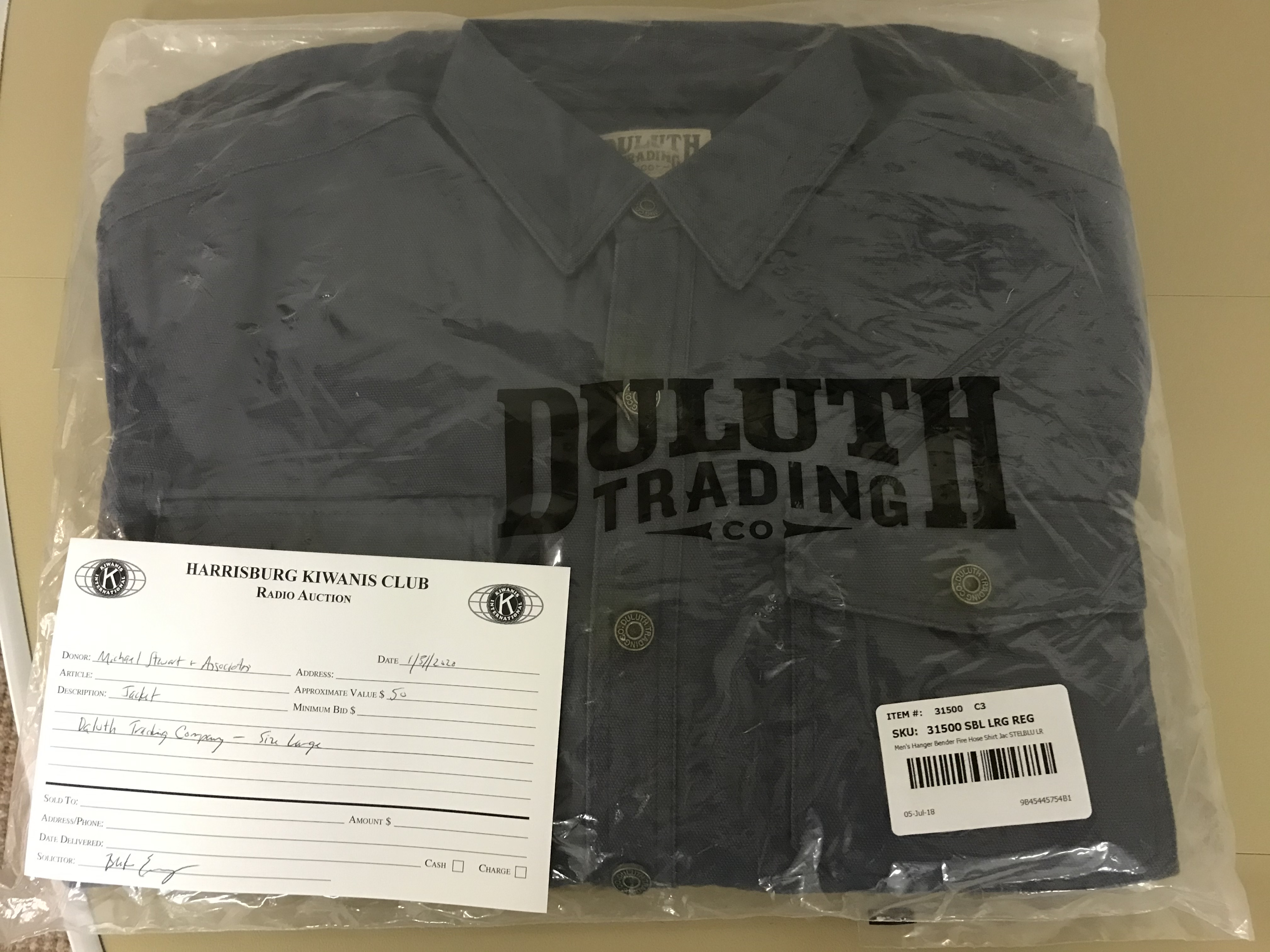 Item 439 - Michael Stewart & Associates Large Daluth Trading Co Jacket