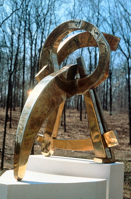 "Circle in the Round - 1983, Fabricated Bronze, 36"" x 48"" x 54"""