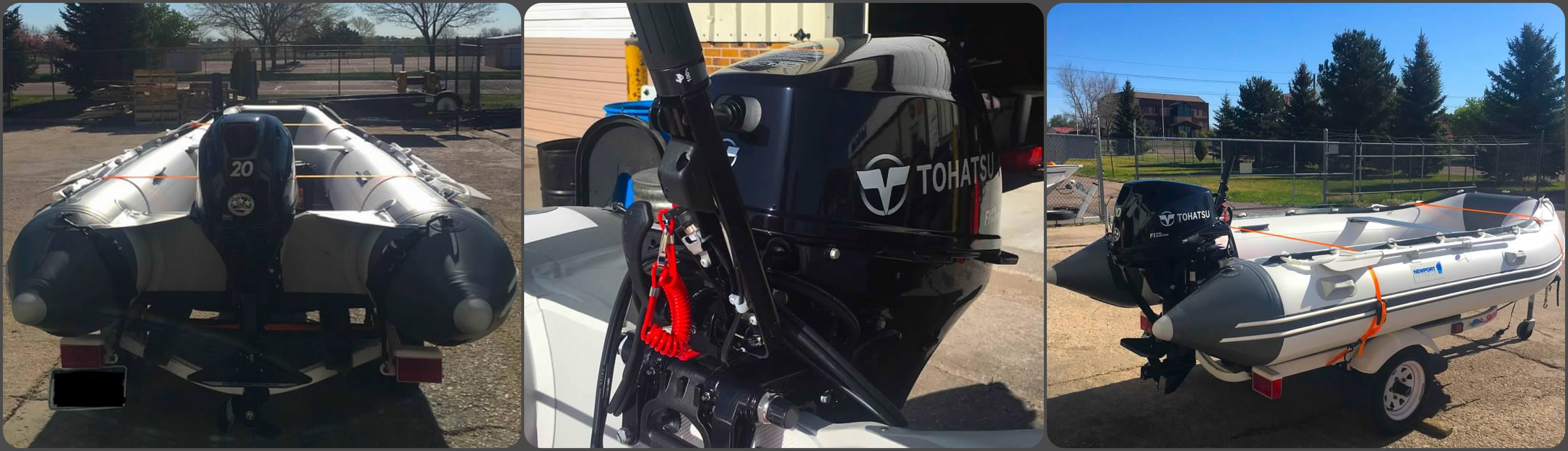 20hp Tohatsu installed on Dingy