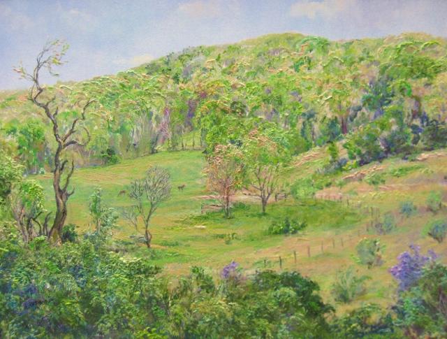 13. Spring  Hillsides, near Markham, 14x18  oil on linen