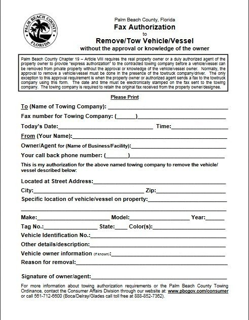 Fax Authorization Form