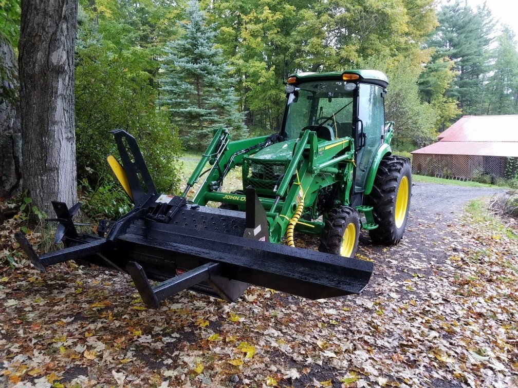 John Deere firewood processor attachment