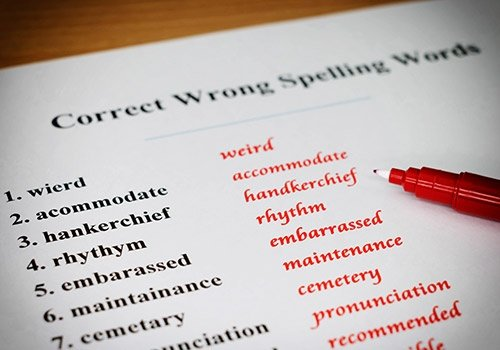Spelling Sheet
