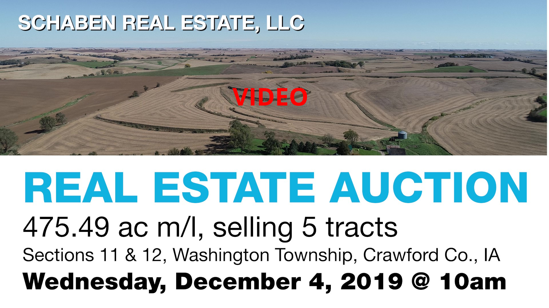 Click here for video of the Von Tersch Trust Real Estate Land, to be auctioned on Wed, December 4th, 2019