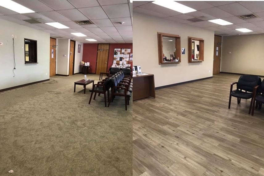Before and After Flooring