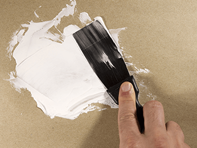Putty Knife with Spackling Paste