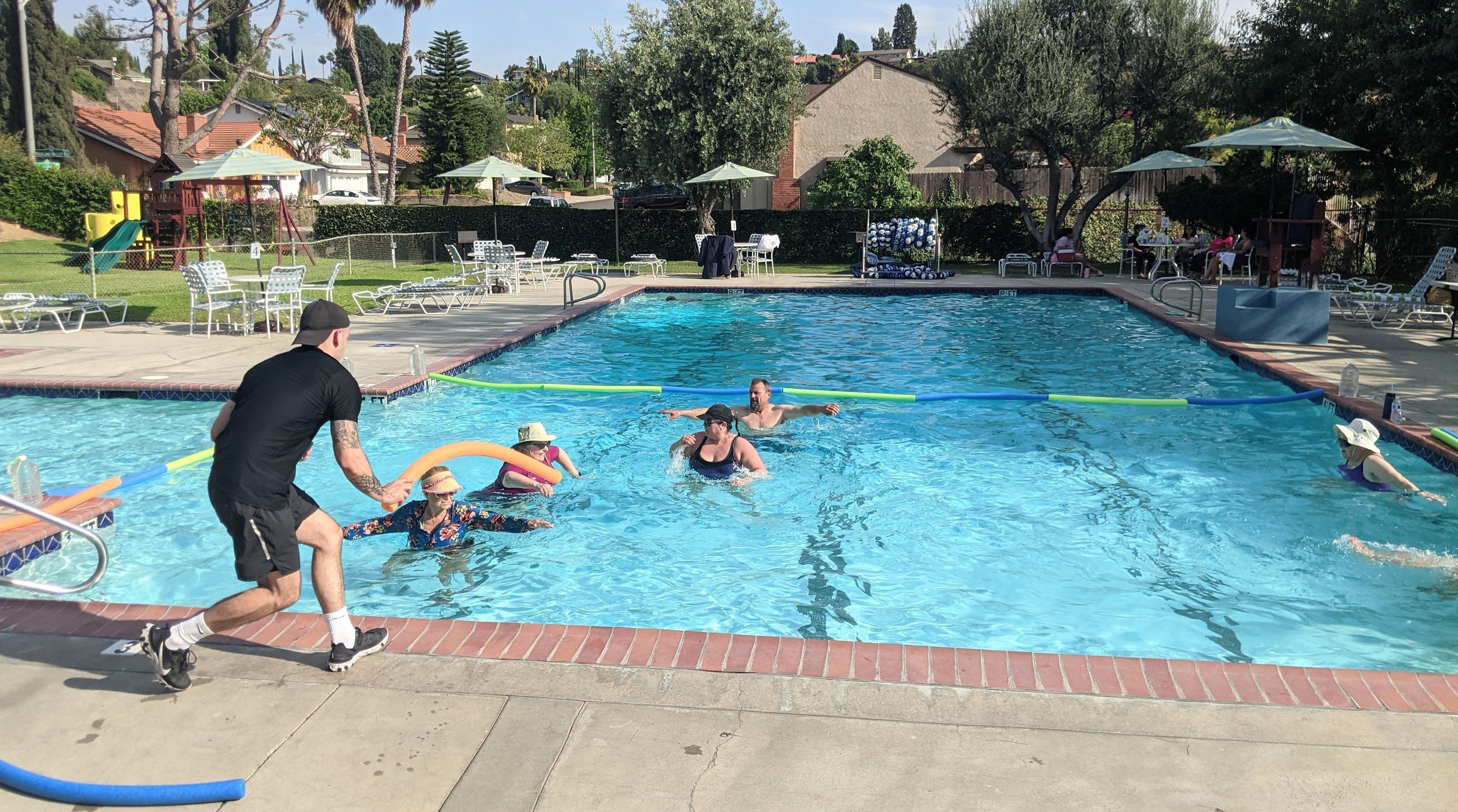 Adult Water Aerobics on Tuesdays and Thursdays 5pm