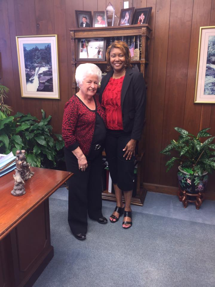 Tawanna Morton With Mayor Loxcil B. Tuck