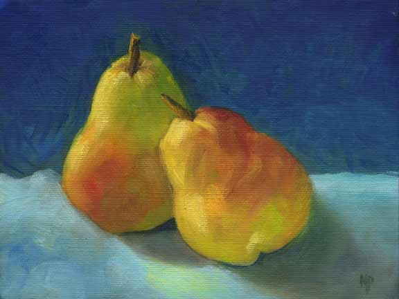 """Lean On Me - 6""""x 8"""" Oil on Stretched Canvas SOLD"""