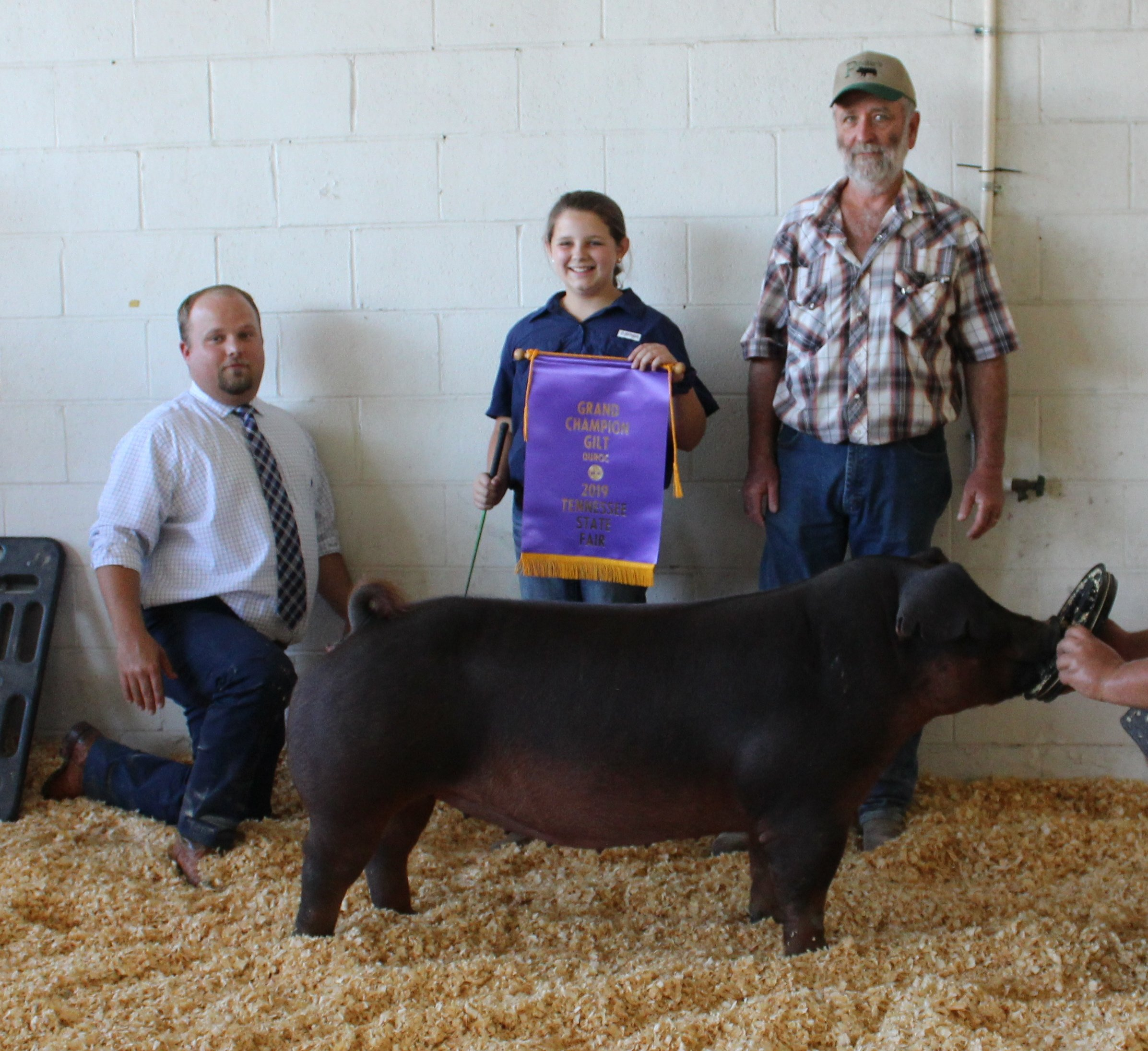 Ann Thomas Lowery 2019 Tennessee State Fair Champion Duroc Gilt