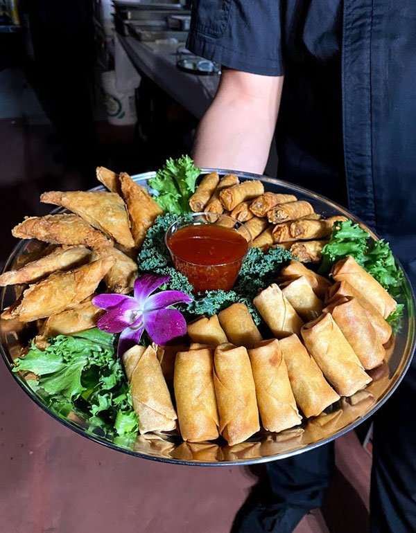 Eggrolls Morrocan and Spinach Traingle