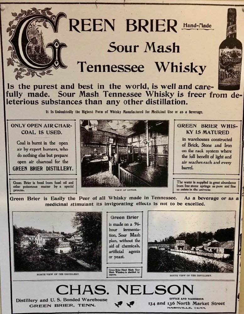 Nelson's Green Brier Distillery Advertisement