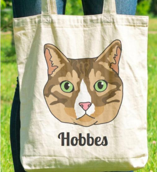 Custom Cat Tote Bag